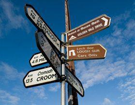 Ireland Travel Signs