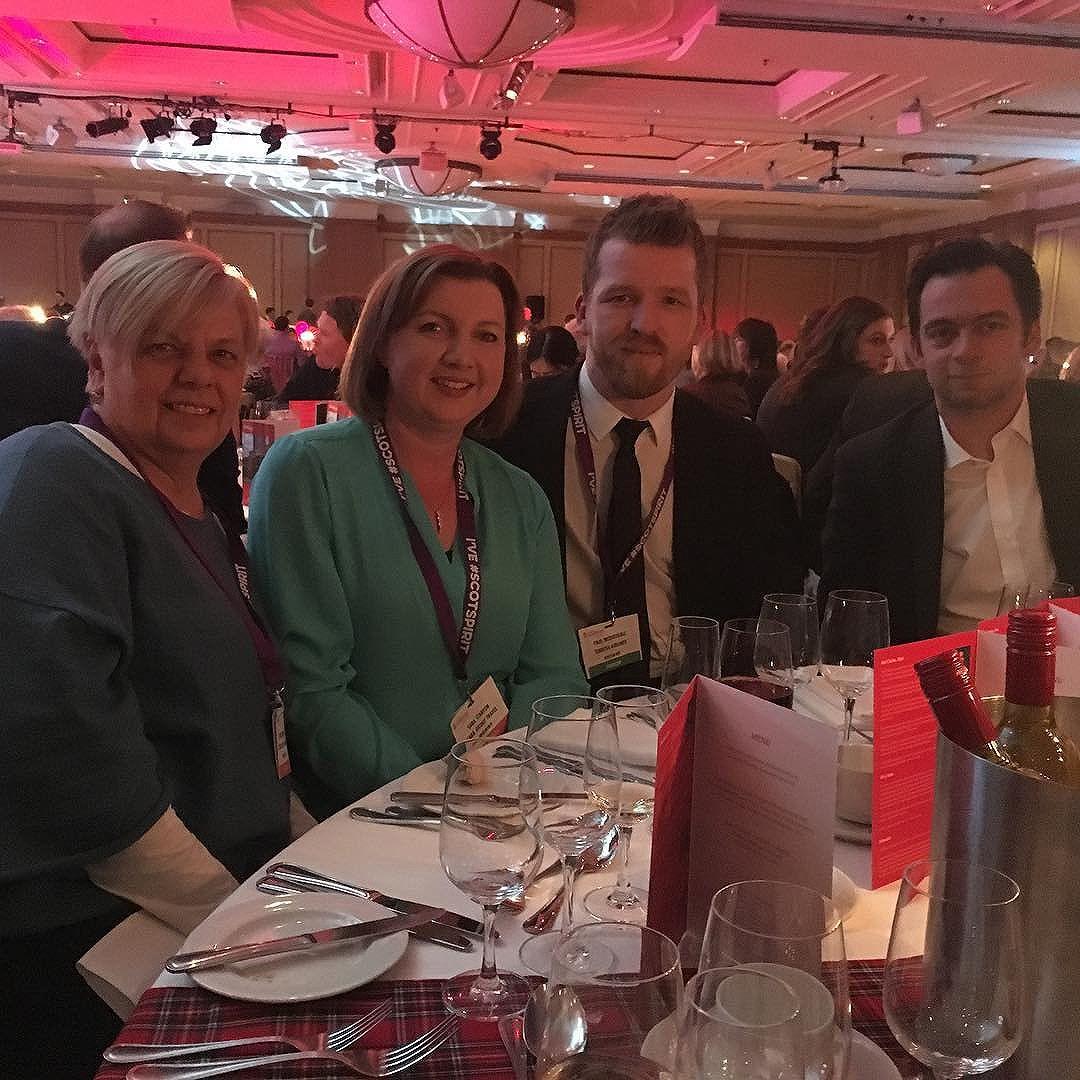 Enjoying #visitscotexpo dinner @hiltonglasgow